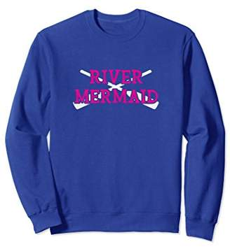 Float Trip Sweatshirt For Women River Mermaid Paddles