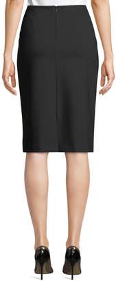Lafayette 148 New York Slim Crepe Knee-Length Skirt