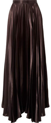 The Row Vailen Charmeuse Maxi Skirt - Dark brown