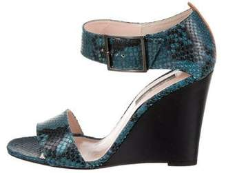 Sarah Jessica Parker Embossed Wedge Sandals w/ Tags