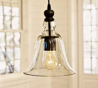 Pottery Barn Small Rustic Glass Indoor/Outdoor Pendant