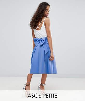 Asos Bow Back Scuba Prom Skirt