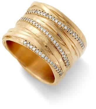 Alison Lou Large Diamond Fettuccine Ring