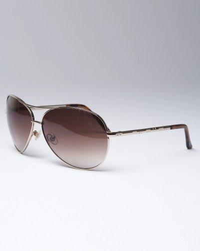 Laura Cross Bar Aviator Sunglasses