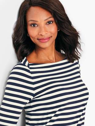 Talbots Knit Jersey Tunic Top - Striped