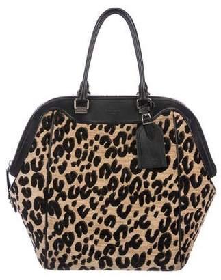 Louis Vuitton North-South Leopard Chenille Bag