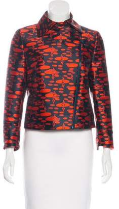 Akris Punto Jacquard Zip-Up Jacket