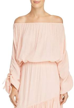 Joie Elazara Off-the-Shoulder Textured Top