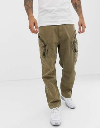 3e70bff5019 G Star G-Star Rovic 3D airforce zip cargo trousers in sand