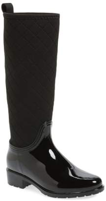 dav Parma Quilted Tall Waterproof Rain Boot