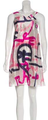 Christian Dior Silk Abstract Print Mini Dress