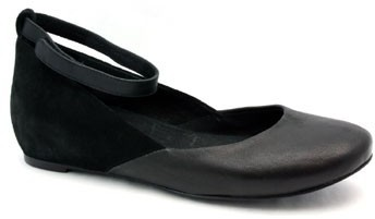 """Chloé See by SB19129"""" Black Leather & Suede Ankle Strap Ballet"""