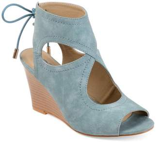 Co Brinley Womens Faux Leather Open-toe Center-cut Wedges