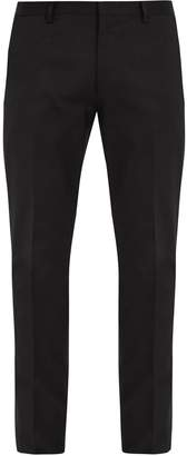 PAUL SMITH Slim-fit cotton-blend gabardine trousers $209 thestylecure.com