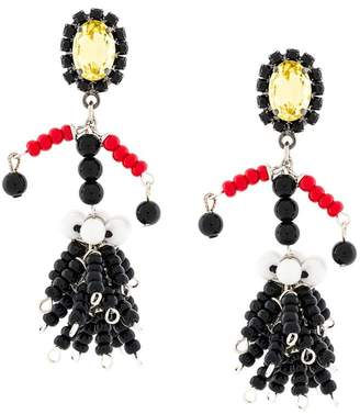 Marni beaded pendant earring
