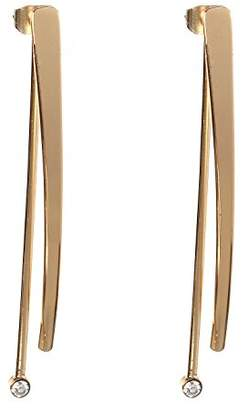 BCBGeneration BCBG Generation 12k Crystal Linear Front Back Drop Earrings