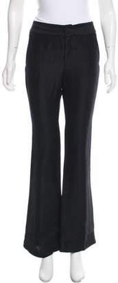 Nellie Partow Mid-Rise Linen-Blend Pants
