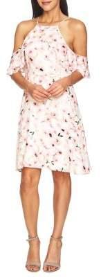 Cynthia Steffe Floral Cold-Shoulder Dress