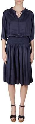 Gerard Darel Dante Smocked-Waist Dress