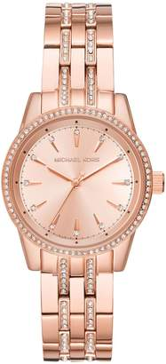 Michael Kors Mini Ritz Crystal & Stainless Steel Bracelet Watch
