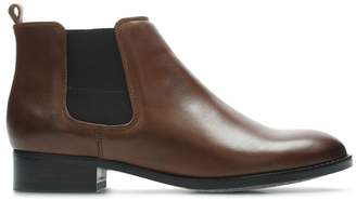 Clarks Netley Ella Leather Ankle Boots
