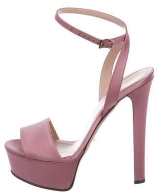 Gucci Satin Platform Sandals w/ Tags
