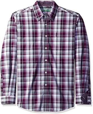 Cinch Men's Modern Fit Long Sleeve Button One Open Pocket Plaid Shirt