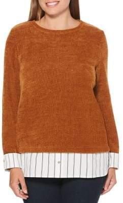 Rafaella Petite Ribbed Long-Sleeve Sweater