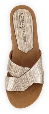 Donald J Pliner Gallo Crisscross Wedge Thong Sandal