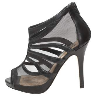 Lucy Choi Black Leather Sandals