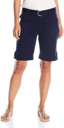Gloria Vanderbilt Women's Petite Sierra Stretch Twill Short with Self Belt