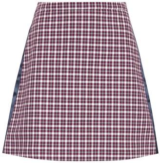 Burberry Checked cotton-blend miniskirt