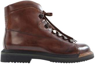 Santoni Brown Leather Ankle boots