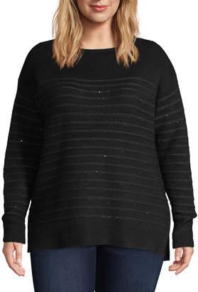 Liz Claiborne Sequin Pullover Sweater - Plus