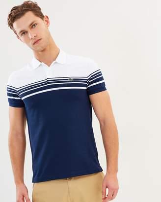Lacoste Slim Fit Colour-Block Stripe Polo