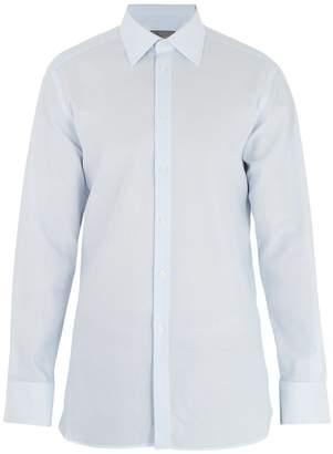 Kilgour Single-cuff basket-weave cotton shirt