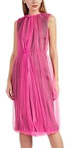 Prada Women's Tulle & Neoprene Sheath Dress - Gray