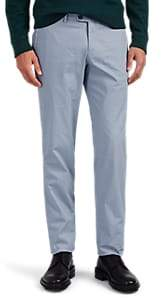 Hiltl Men's Cotton Modern-Fit Trousers - Lt. Blue Size 40