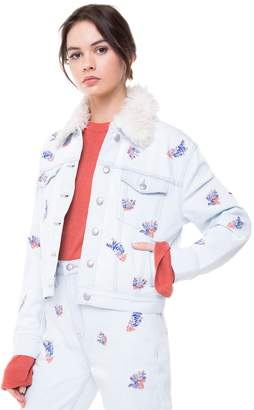 Juicy Couture Wildflower Embroidered Denim Jacket