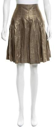 Burberry Metallic Linen Skirt