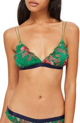 Topshop Penelope Floral Triangle Bra
