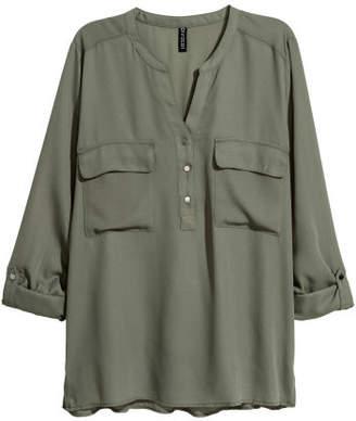 H&M V-neck Blouse - Green