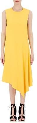 Victor Alfaro VICTOR ALFARO WOMEN'S CADY ASYMMETRIC DRESS - YELLOW SIZE 8