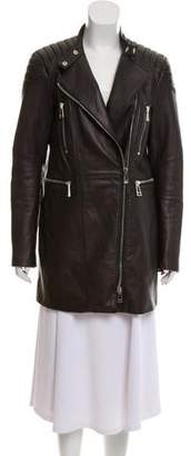 Belstaff Leather Zip Jacket