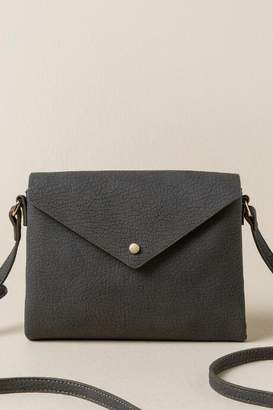 francesca's Lila Pebbled Envelope Crossbody - Gray