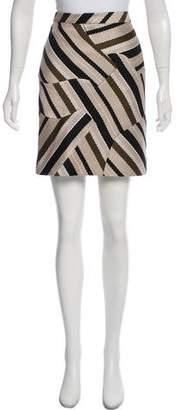 Derek Lam Patterned Mini Skirt