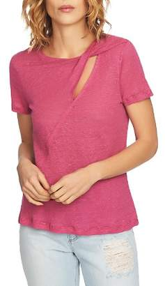 1 STATE 1.STATE Twist Cutout Linen Tee
