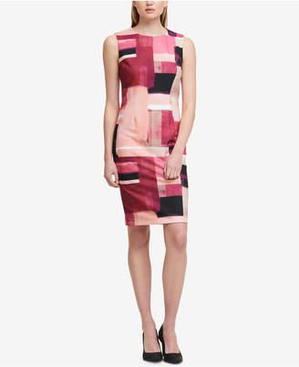 DKNY Printed Sheath Dress, Created for Macy's