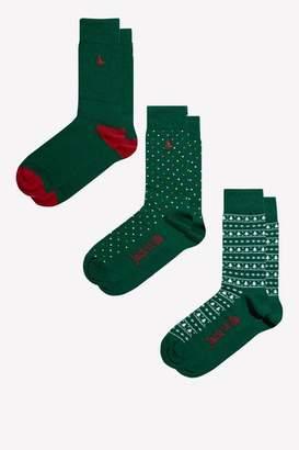 Jack Wills Fernwood 3 Pack Socks