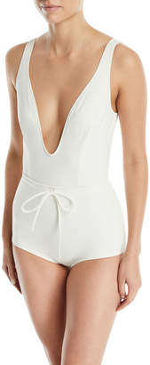Solid And Striped The Edie Drawstring One-Piece Swimsuit